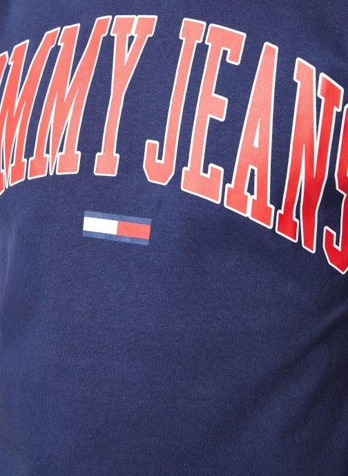 Vêtements Tommy Jeans TJM COLLEGIATE LOGO TEE Bleu vue face