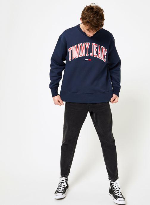 Vêtements Tommy Jeans TJM CLEAN COLLEGIATE CREW Bleu vue bas / vue portée sac