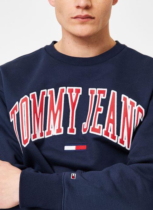 Vêtements Tommy Jeans TJM CLEAN COLLEGIATE CREW Bleu vue face