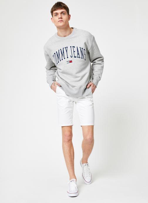 Vêtements Tommy Jeans TJM CLEAN COLLEGIATE CREW Gris vue bas / vue portée sac
