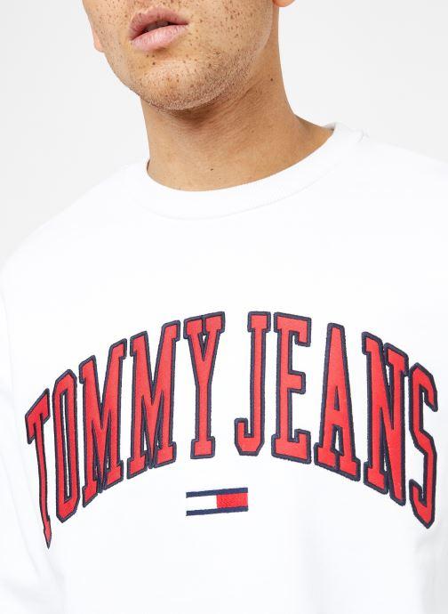 Vêtements Tommy Jeans TJM CLEAN COLLEGIATE CREW Blanc vue face