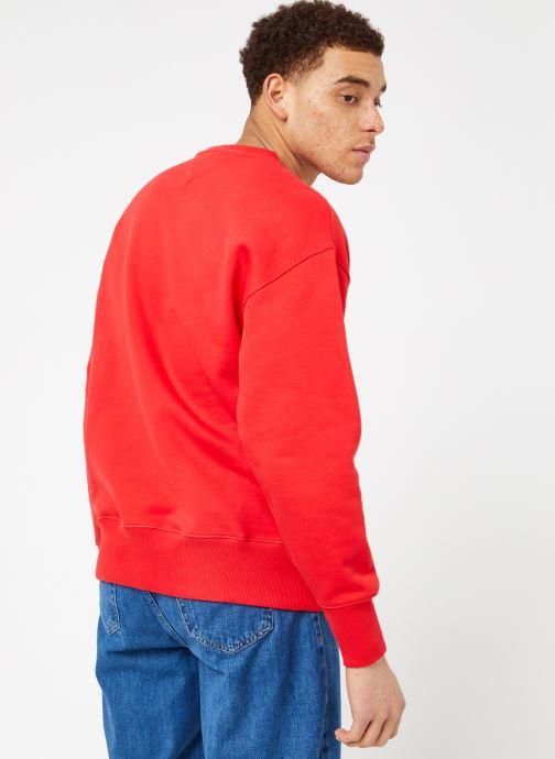 Tøj Tommy Jeans TJM CLEAN COLLEGIATE CREW Rød se skoene på