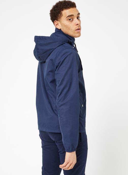 Vêtements Tommy Jeans TJM ESSENTIAL HOODED JACKET Bleu vue portées chaussures