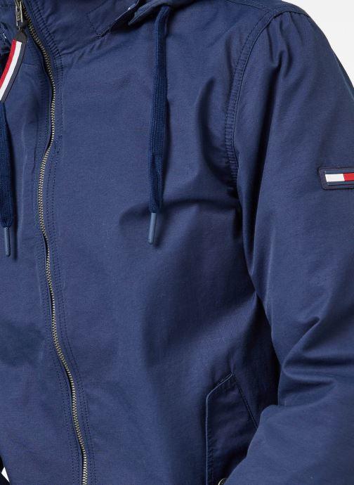 Vêtements Tommy Jeans TJM ESSENTIAL HOODED JACKET Bleu vue face