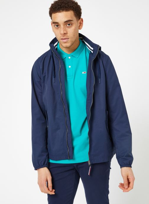 Vêtements Tommy Jeans TJM ESSENTIAL HOODED JACKET Bleu vue droite