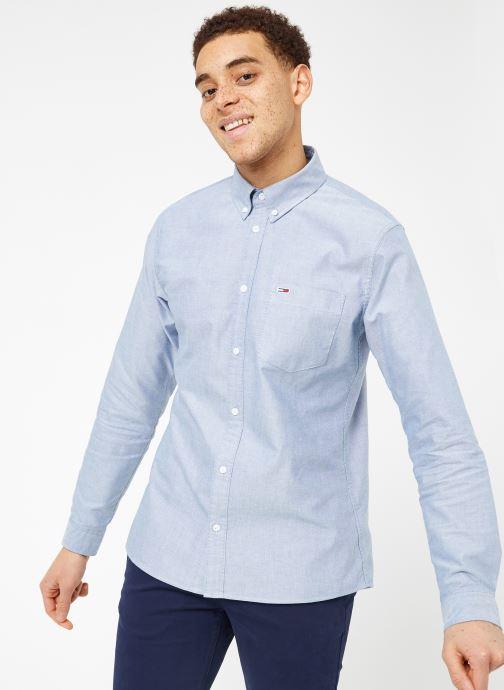 Vêtements Tommy Jeans TJM CLASSICS OXFORD SHIRT Bleu vue droite