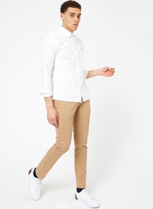 Vêtements Tommy Jeans TJM CLASSICS OXFORD SHIRT Blanc vue bas / vue portée sac
