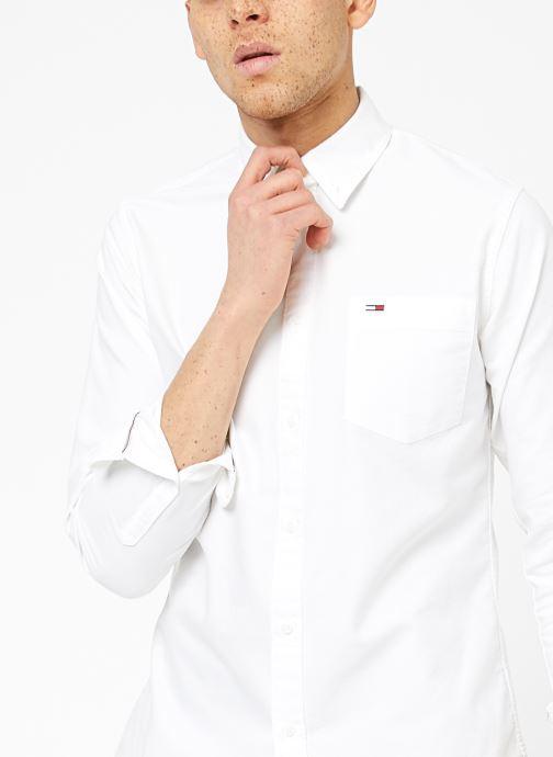 Vêtements Tommy Jeans TJM CLASSICS OXFORD SHIRT Blanc vue face