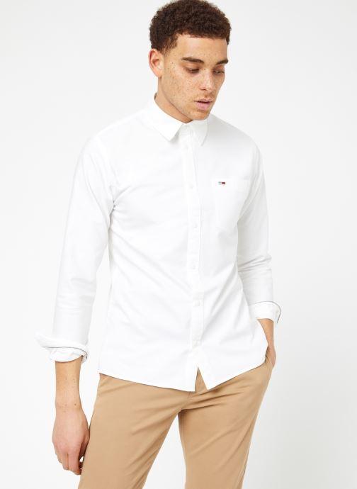 Vêtements Tommy Jeans TJM CLASSICS OXFORD SHIRT Blanc vue droite