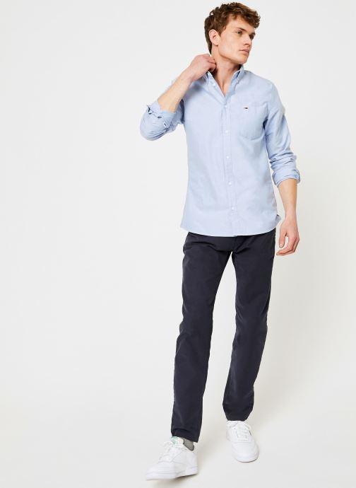 Vêtements Tommy Jeans TJM CLASSICS OXFORD SHIRT Bleu vue bas / vue portée sac