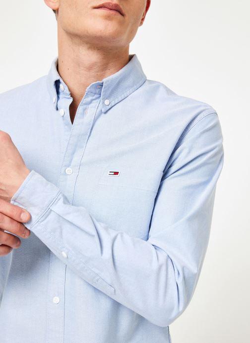 Vêtements Tommy Jeans TJM CLASSICS OXFORD SHIRT Bleu vue face