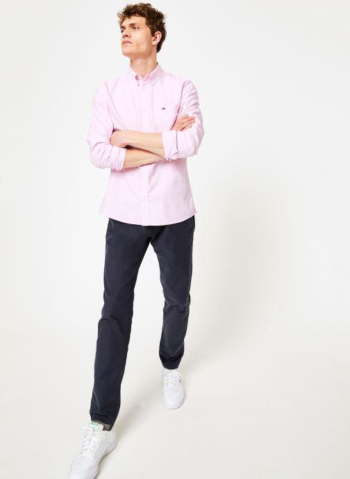 Vêtements Tommy Jeans TJM CLASSICS OXFORD SHIRT Rose vue bas / vue portée sac