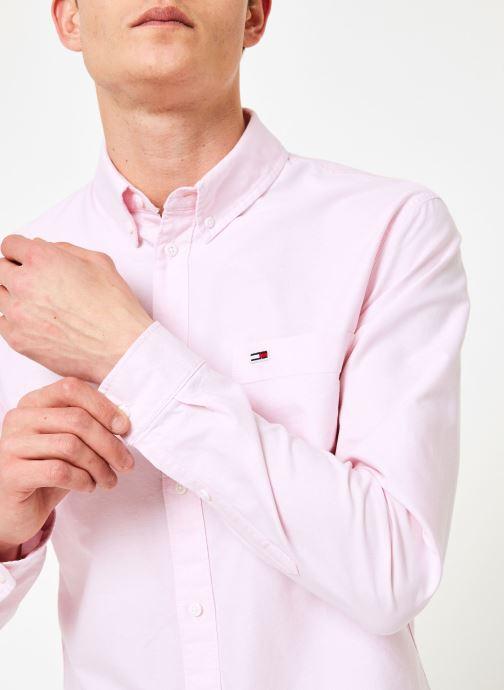Vêtements Tommy Jeans TJM CLASSICS OXFORD SHIRT Rose vue face