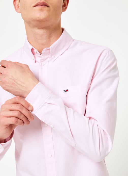 Vêtements Tommy Jeans TJM CLASSICS OXFORD SHIRT Rose vue face
