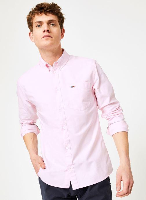 Vêtements Tommy Jeans TJM CLASSICS OXFORD SHIRT Rose vue détail/paire