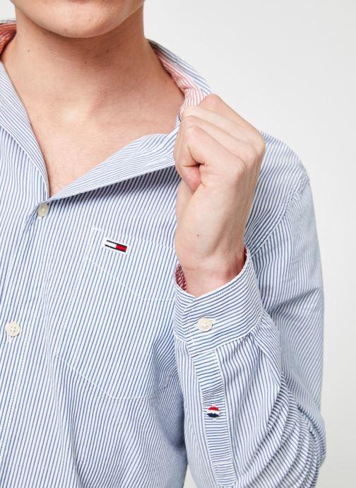 Vêtements Tommy Jeans TJM SEERSUCKER SHIRT Bleu vue face