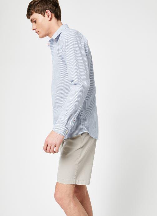 Vêtements Tommy Jeans TJM SEERSUCKER SHIRT Bleu vue droite
