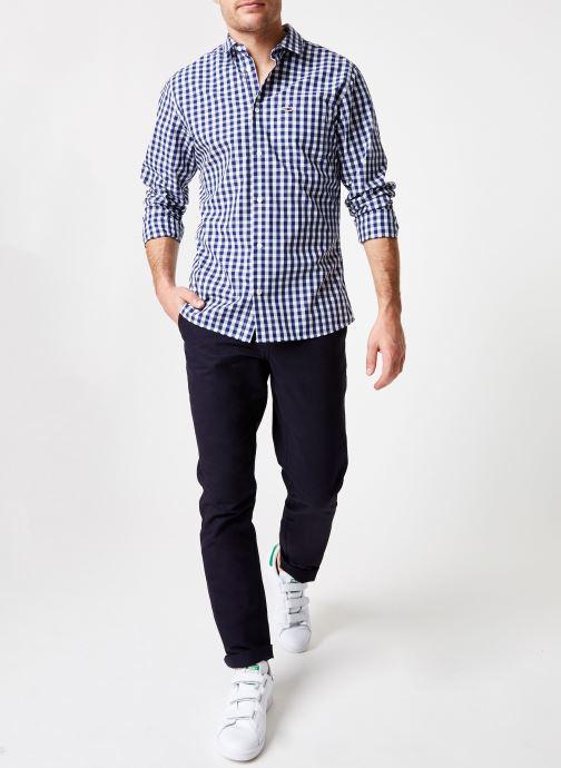 Vêtements Tommy Jeans TJM GINGHAM SHIRT Bleu vue bas / vue portée sac