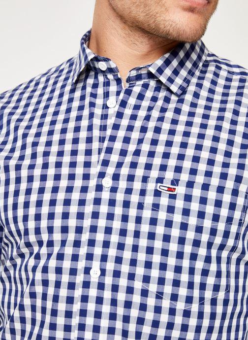 Vêtements Tommy Jeans TJM GINGHAM SHIRT Bleu vue face