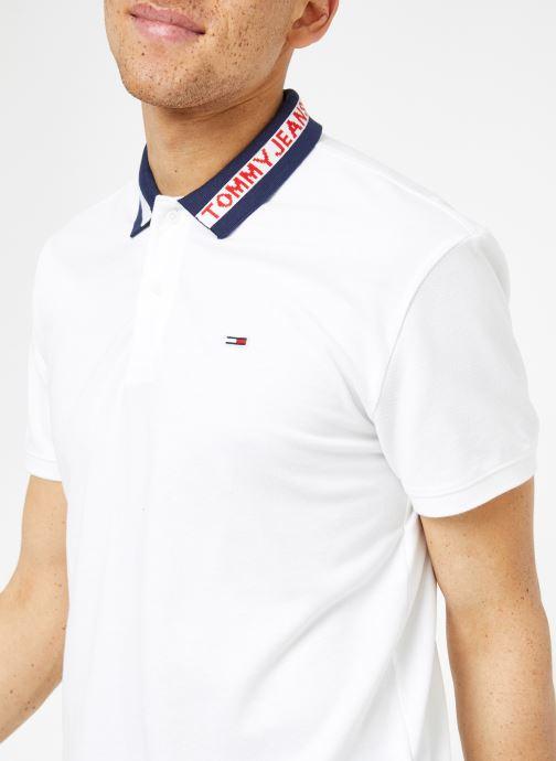 Vêtements Tommy Jeans TJM TIPPED COLLAR POLO Blanc vue face