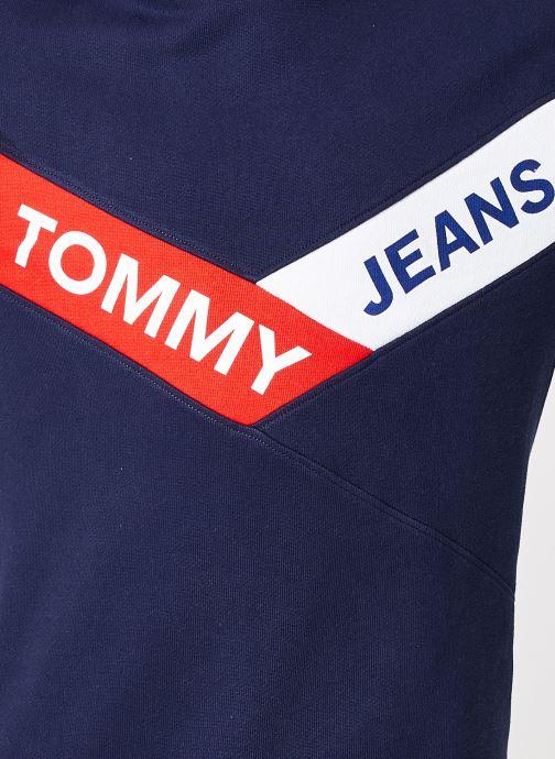 Tøj Tommy Jeans TJM CHEVRON CREW Blå se forfra