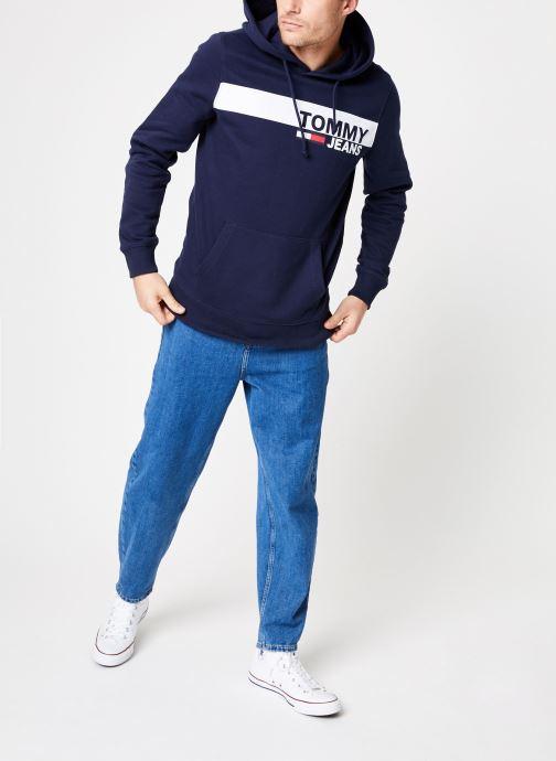 Kleding Tommy Jeans TJM ESSENTIAL GRAPHIC HOODIE Blauw onder