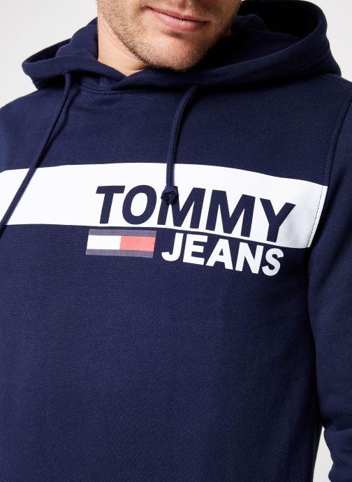 Kleding Tommy Jeans TJM ESSENTIAL GRAPHIC HOODIE Blauw voorkant