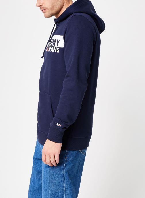 Kleding Tommy Jeans TJM ESSENTIAL GRAPHIC HOODIE Blauw rechts