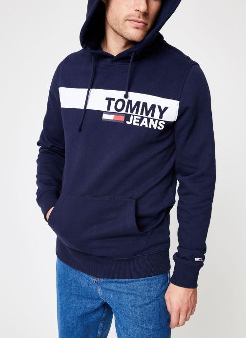 Kleding Tommy Jeans TJM ESSENTIAL GRAPHIC HOODIE Blauw detail