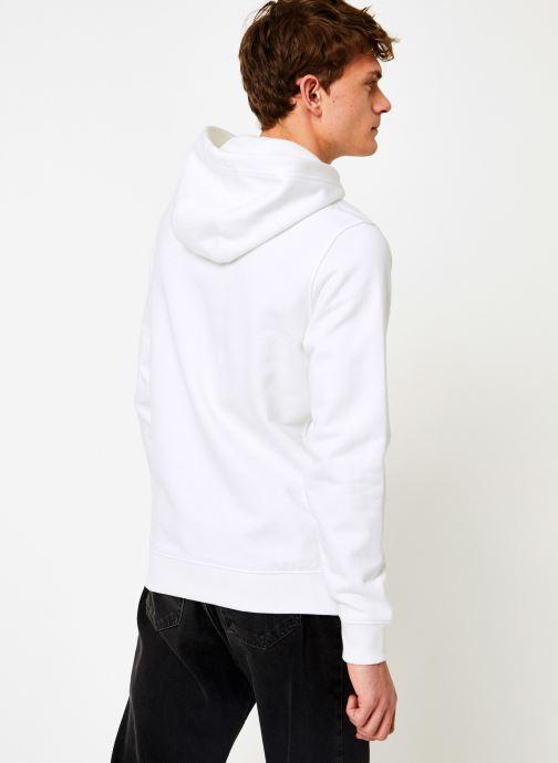 Vêtements Tommy Jeans TJM ESSENTIAL GRAPHIC HOODIE Blanc vue portées chaussures