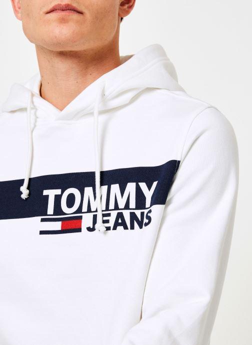 Vêtements Tommy Jeans TJM ESSENTIAL GRAPHIC HOODIE Blanc vue face