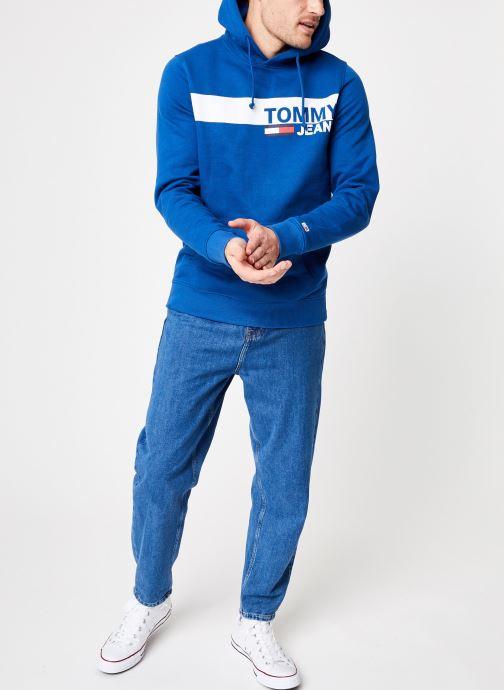 Vêtements Tommy Jeans TJM ESSENTIAL GRAPHIC HOODIE Bleu vue bas / vue portée sac
