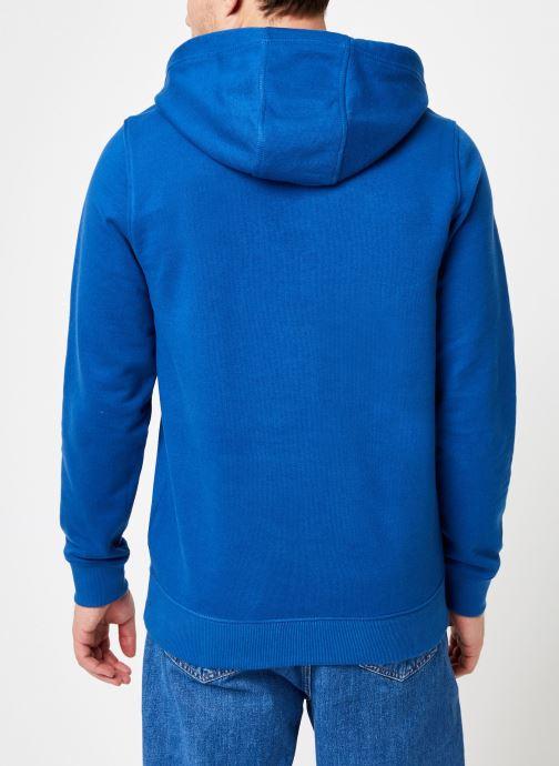 Vêtements Tommy Jeans TJM ESSENTIAL GRAPHIC HOODIE Bleu vue portées chaussures