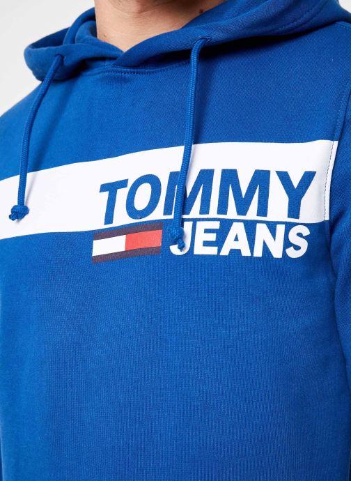 Vêtements Tommy Jeans TJM ESSENTIAL GRAPHIC HOODIE Bleu vue face