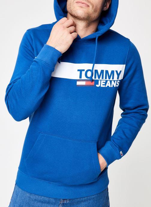 Vêtements Tommy Jeans TJM ESSENTIAL GRAPHIC HOODIE Bleu vue détail/paire