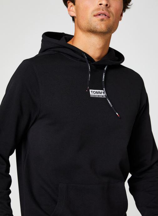 Vêtements Tommy Jeans TJM ESSENTIAL GRAPHIC HOODIE Noir vue face