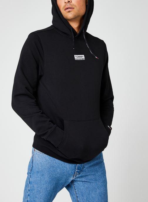 Vêtements Tommy Jeans TJM ESSENTIAL GRAPHIC HOODIE Noir vue droite