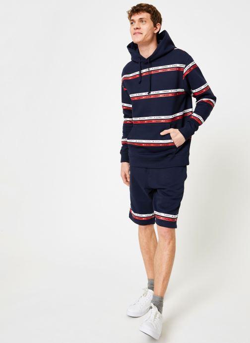 Vêtements Tommy Jeans TJM STRIPE HOODIE Bleu vue bas / vue portée sac