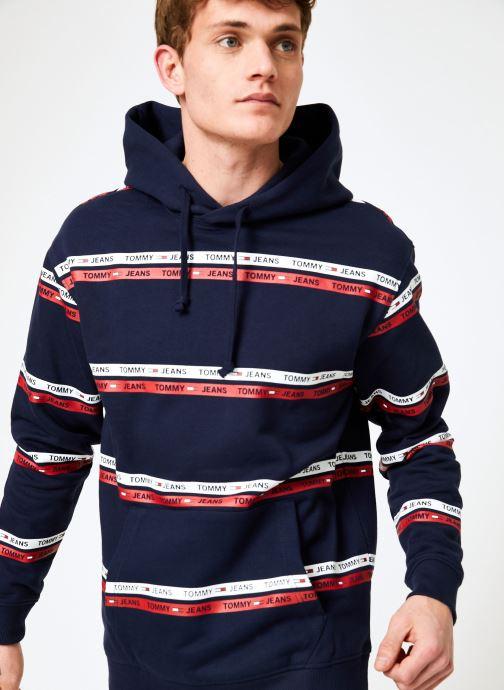 Vêtements Tommy Jeans TJM STRIPE HOODIE Bleu vue détail/paire