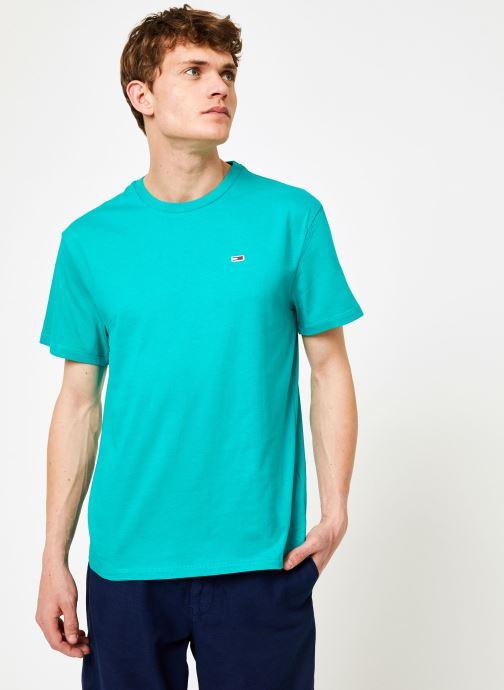 Vêtements Tommy Jeans TJM TOMMY CLASSICS TEE Vert vue droite