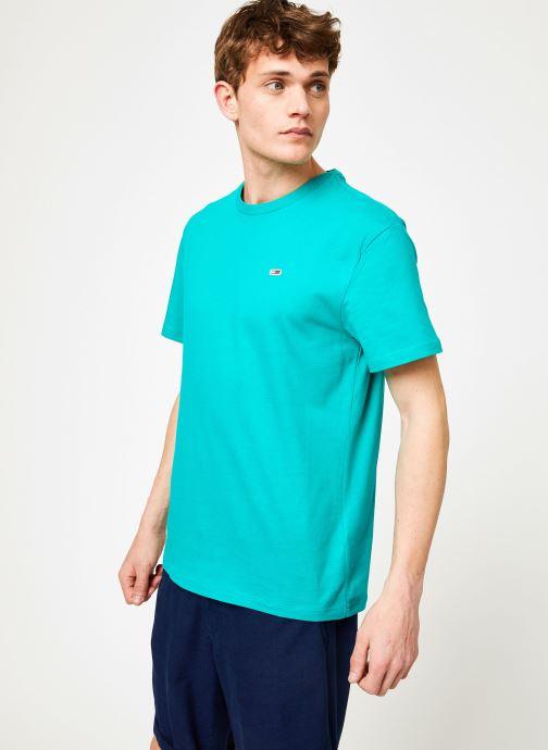 Vêtements Tommy Jeans TJM TOMMY CLASSICS TEE Vert vue détail/paire