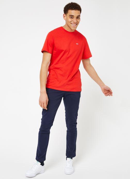 Vêtements Tommy Jeans TJM TOMMY CLASSICS TEE Rouge vue bas / vue portée sac