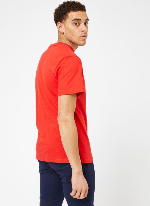 Vêtements Tommy Jeans TJM TOMMY CLASSICS TEE Rouge vue portées chaussures
