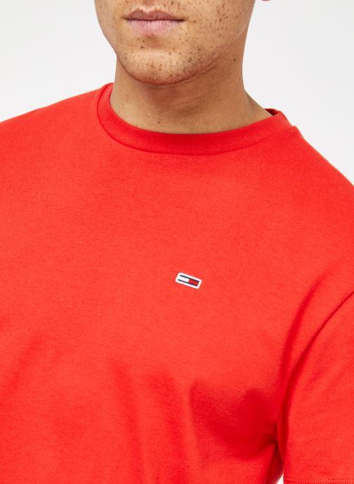 Vêtements Tommy Jeans TJM TOMMY CLASSICS TEE Rouge vue face