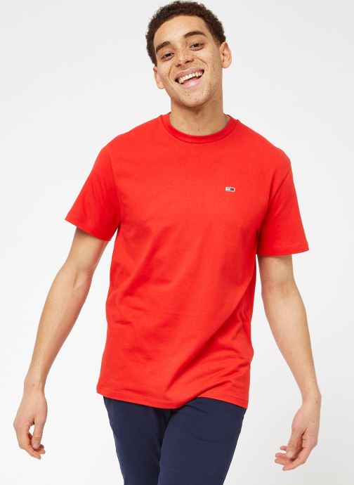 Vêtements Tommy Jeans TJM TOMMY CLASSICS TEE Rouge vue droite