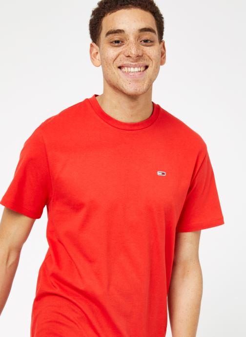 Vêtements Tommy Jeans TJM TOMMY CLASSICS TEE Rouge vue détail/paire