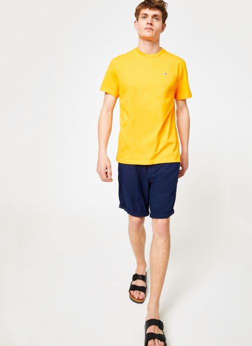 Vêtements Tommy Jeans TJM TOMMY CLASSICS TEE Orange vue bas / vue portée sac