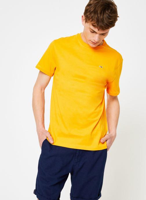Vêtements Tommy Jeans TJM TOMMY CLASSICS TEE Orange vue droite