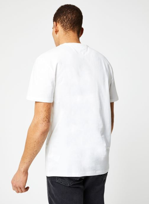 Vêtements Tommy Jeans TJM TOMMY CLASSICS TEE Blanc vue portées chaussures