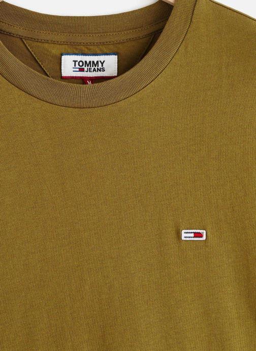 Vêtements Tommy Jeans TJM TOMMY CLASSICS TEE Vert vue portées chaussures